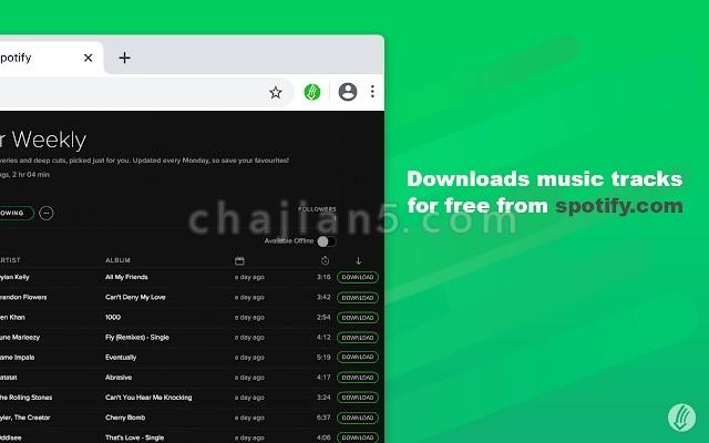Spotify™ & Deezer™ Music Downloader 下载Spotify和Deezer网站上的音乐