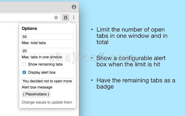 Tab Limiter 浏览器标签页管理 自动关闭旧的