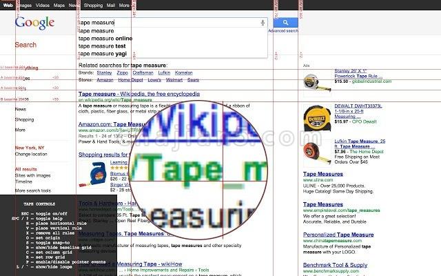 Tape测量网页像素值的网站前端设计工具