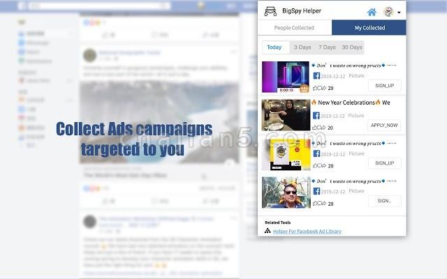 Tracking Ads - BigSpy 侧重社交营销的广告跟踪工具