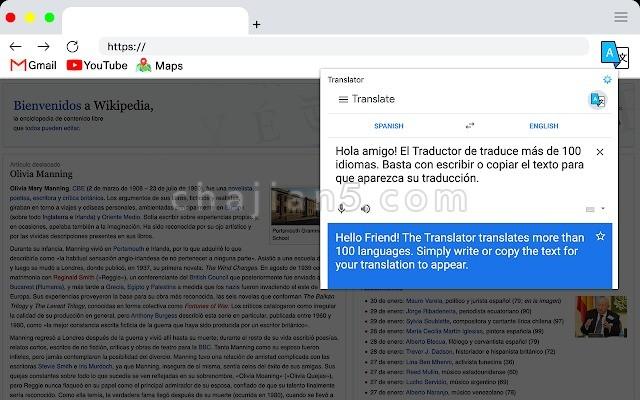 Translator(翻译者) 使用Google翻译器在浏览网页时翻译单词和短语