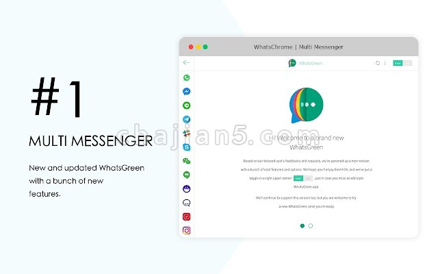 WhatsApp Multi Messenger 支持WeChat LINE WhatsApp Telegram FB Messenge等