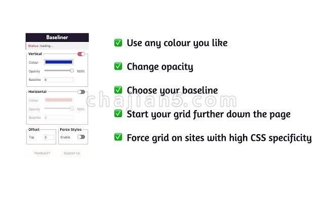 Baseliner 在网页上添加网格线(前端工具)