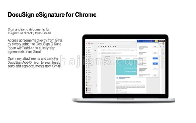 DocuSign Gmail 邮箱的电子签名插件