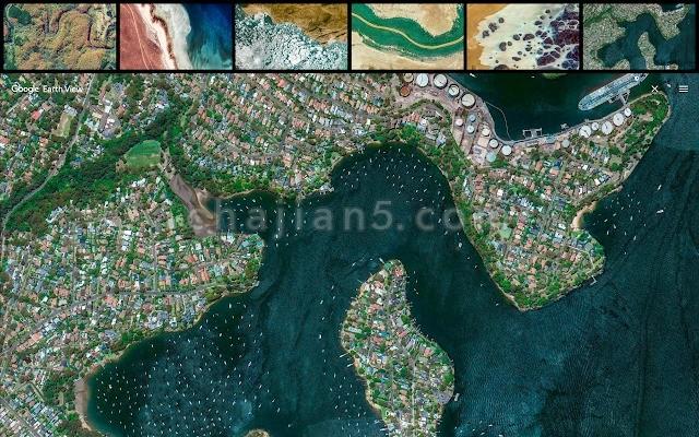 Earth View from Google Earth 打开新标签页时显示谷歌地球图像
