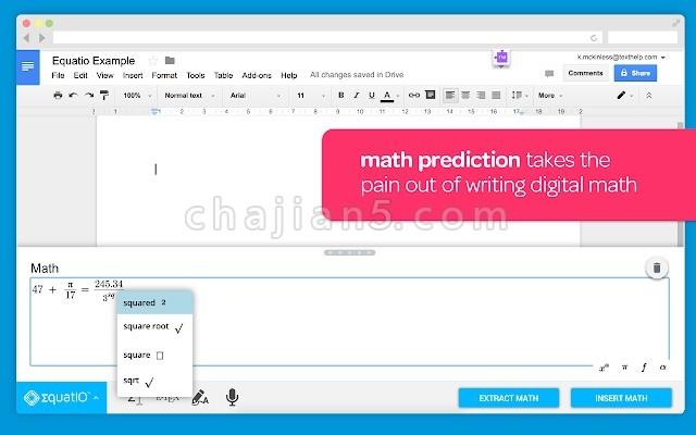 EquatIO - Math made digital 轻松创建数学方程,公式和测验