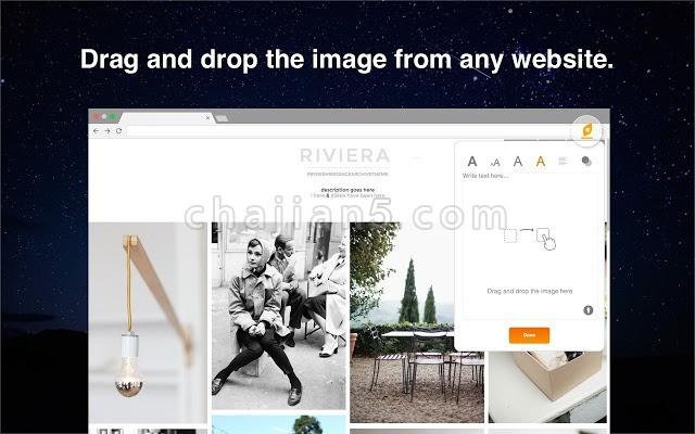 Texmage 选取网页上的图片添加文字进行创作