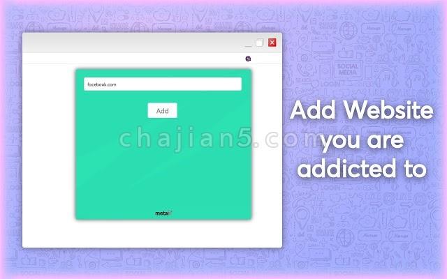 Unaddict Metaii开发的防止某网站上瘾的提示插件