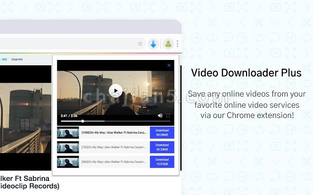 Video Downloader PLUS(by chrome extension)