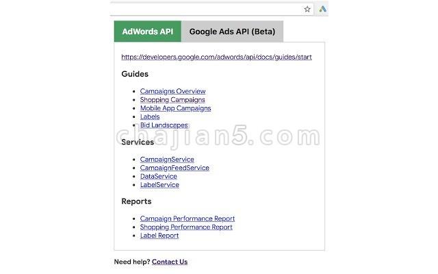 AdWords & Google Ads API Web Navi(Google 官方)