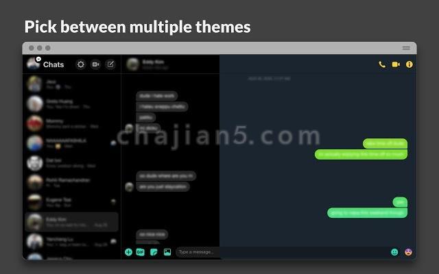 Charcoal 让Chrome支持Messenger的夜间护眼模式