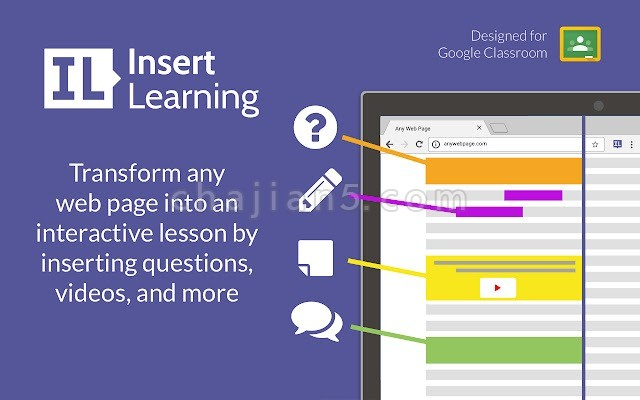 InsertLearning 直接在网页上做标记注解 还可以录制小短片