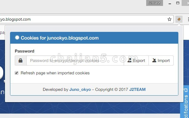 J2TEAM Cookies 导入/导出Cookie的工具