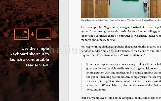 Mercury Reader 去广告的网页阅读插件