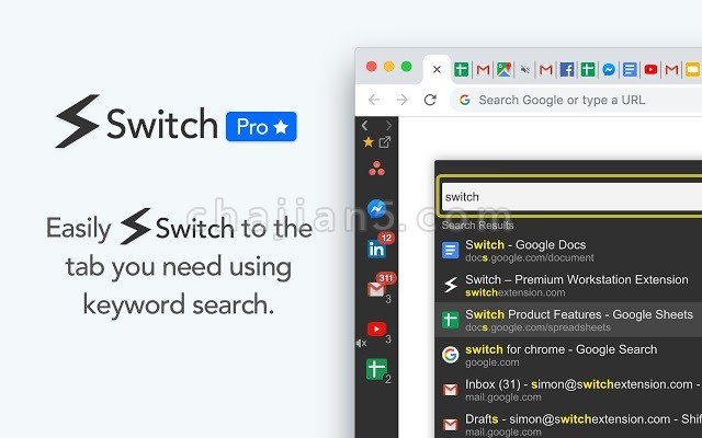 Switch Workstation给Chrome添加一个侧边栏工作站