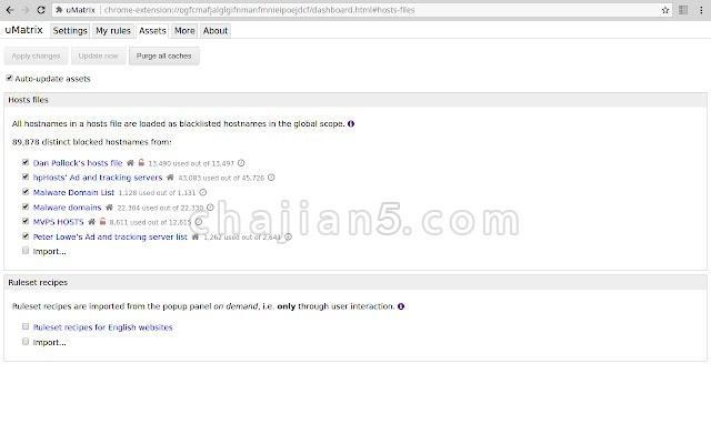 uMatrix 控制浏览器中的各种网页请求