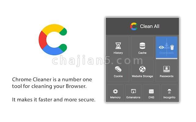 Chrome Cleaner 清理浏览器历史记录、缓存、下载内容