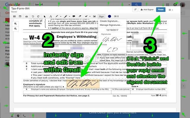 DocHub 集成到Gmail的PDF文件标记编辑插件