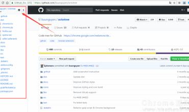 Octotree-GitHub开源代码树状结构形式查看