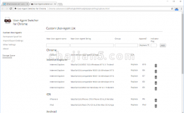 测试网页自适应情况的前端开发Chrome插件User-Agent Switcher for Chrome