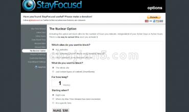 StayFocusd-保持专注,可设置浏览网页时间