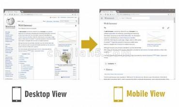 Mobile View Switcher 一键切换ChromePC版至移动版浏览效果
