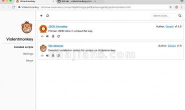 Violentmonkey 暴力猴插件-浏览器用户脚本支持插件