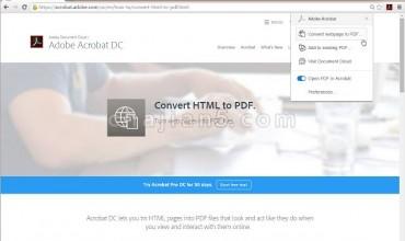 Adobe Acrobat将网页转换为 PDF 文件