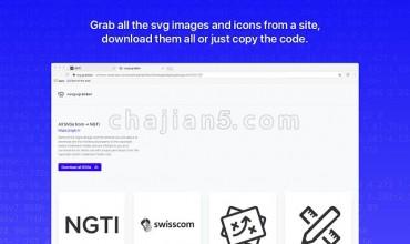 Svg-grabber帮助你快速浏览和下载一个网站所有的SVG