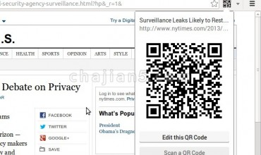 The QR Code Extension 当前网页二维码