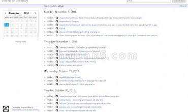 Chrome Better History查看浏览器历史记录,支持跳转时间日期