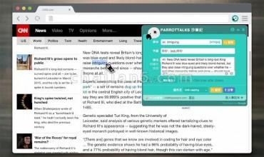 ParrotTalks抄笔记-快速查询翻译 收藏单词到笔记方便复习