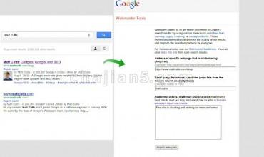Google Webspam Report (by Google) 向谷歌举报搜索结果中的垃圾信息