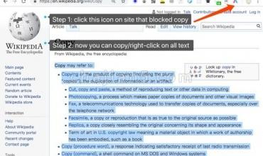 Simple Allow Copy解除屏蔽右键复制功能的插件